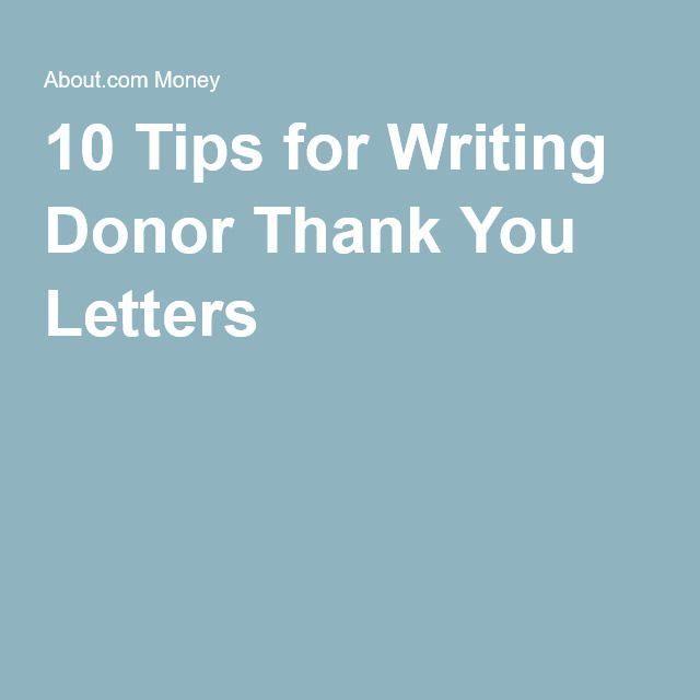 Tips For Writing Better Donor Thank You Letters  Fundraising