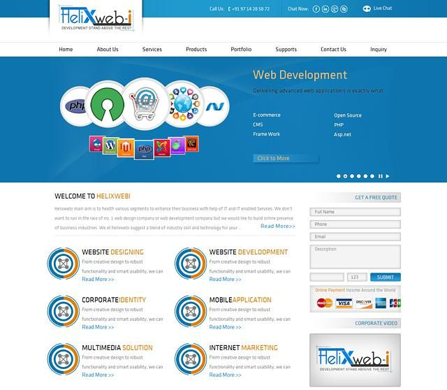 Helixwebi is a TOP Web Designing And Web Development Company in Ahmadabad, India.