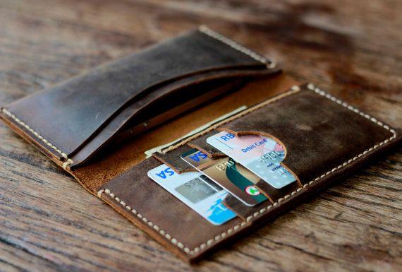 Men's Leather Wallets / Custom Leather Wallets by JooJoobs on Etsy