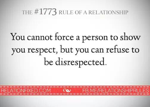 What is disrespectful behavior in a relationship