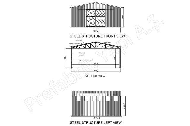 Çelik Yapı 100 m2