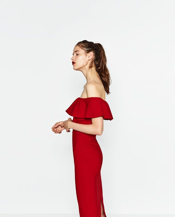 Image 3 of OFF-THE-SHOULDER DRESS from Zara