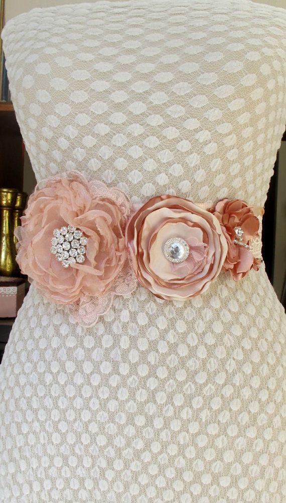 Floral Wedding Sash  Etsy Thursday: Floral Wedding Inspiration  #etsy #wedding