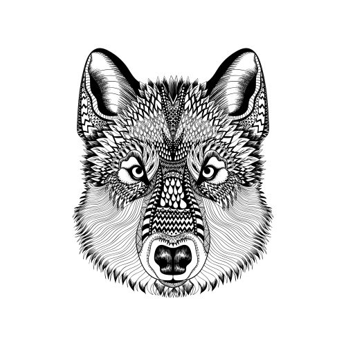 advanced animal coloring page 6