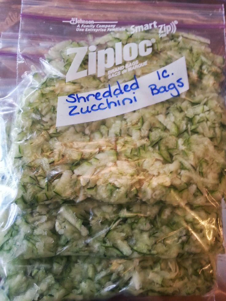 verna's tip freeze shredded zucchini in measured amounts