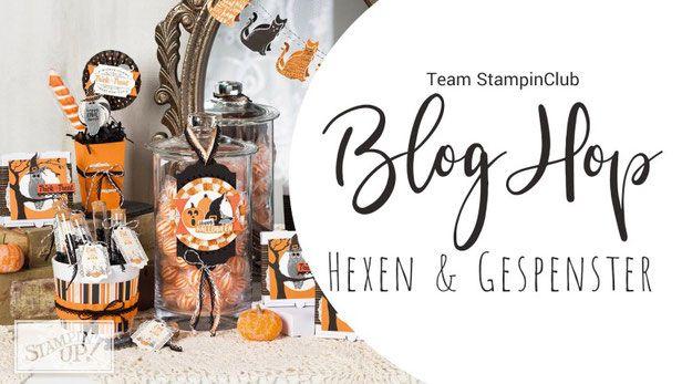 Stampin Up beim Zettelzirkus: Blog Hop vom Team StampinClub, schau mal vorbei, Hexen und gespenster