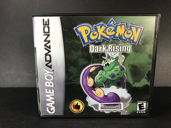 Pokemon Dark Rising ROM Hack Fan Made Game Gameboy Advance GBA Custom Case