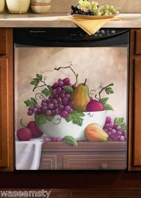 24 best images about grape and wine decor on pinterest wine bottle holders vineyard and - Fruit kitchen decorating theme ...