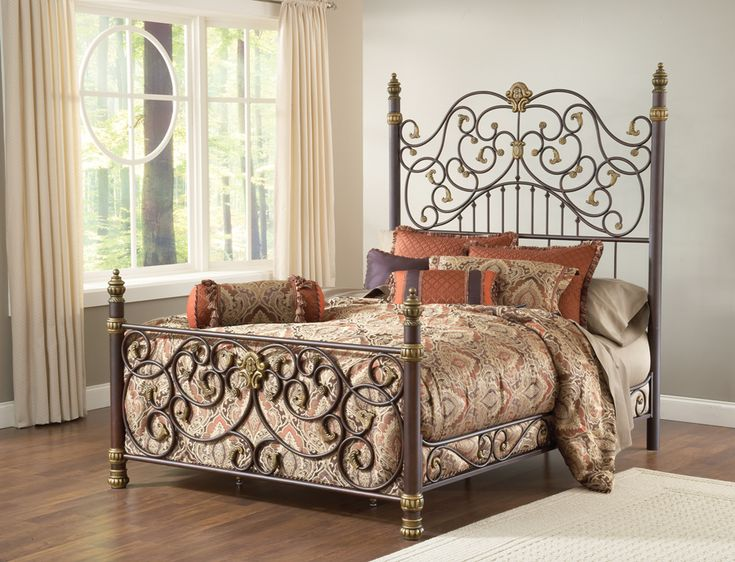 Hillsdale Stanton Wrought Iron Bed with Matching Side Rail $999.00 & 97 best Bedrooms images on Pinterest