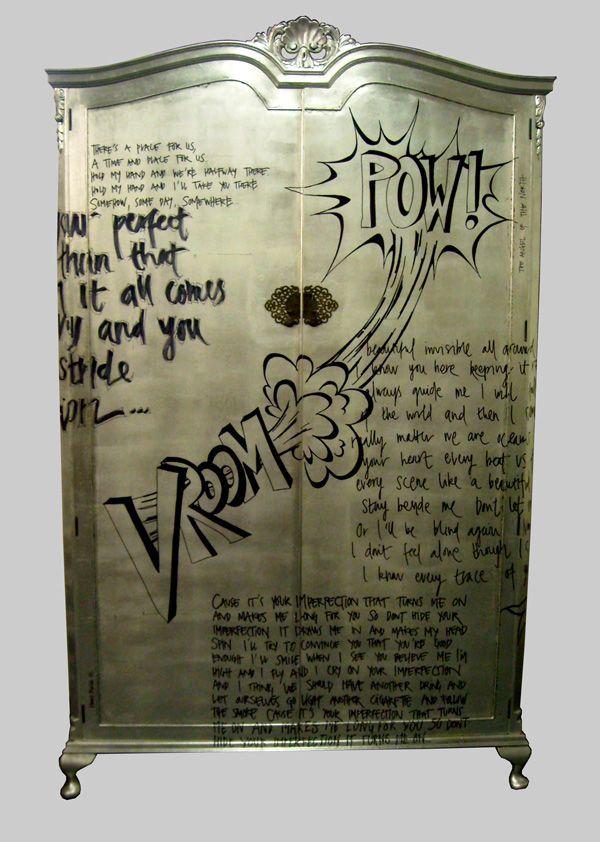 Jimmie Martin Ltd Graffiti Wardrobe Furniture.  Pinned to . F U R N I T U R E . D E S I G N .
