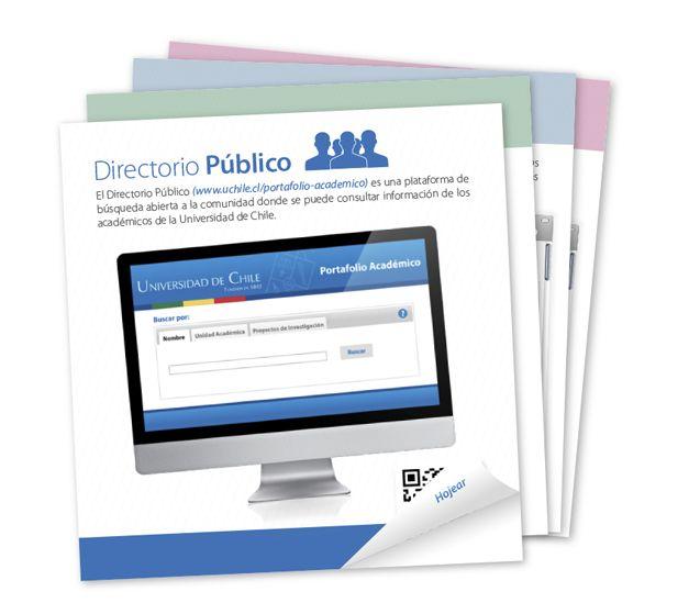 Directorio Público permitirá acceso público a información de Portafolio Académico. Ver más en http://uchile.cl/u101463