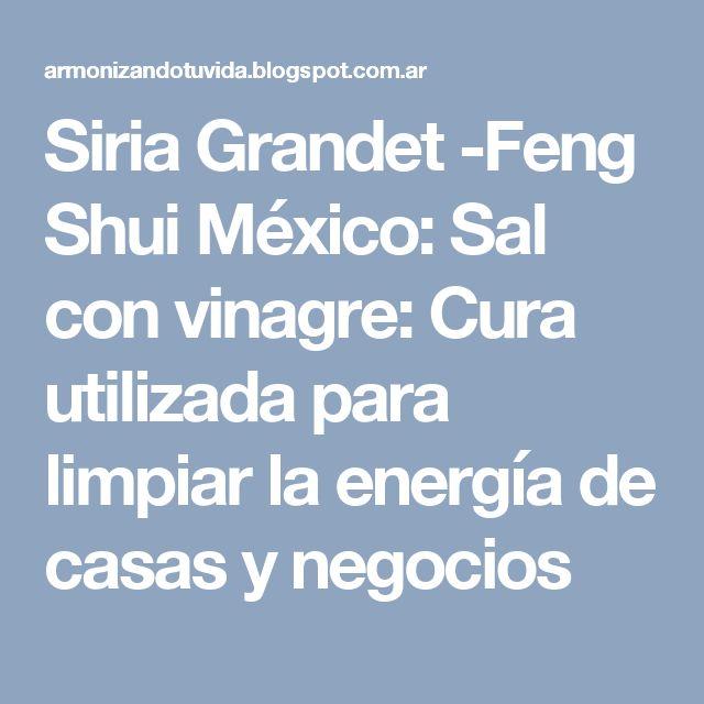 Siria Grandet -Feng Shui México: Sal con vinagre: Cura utilizada para limpiar la energía de casas y negocios