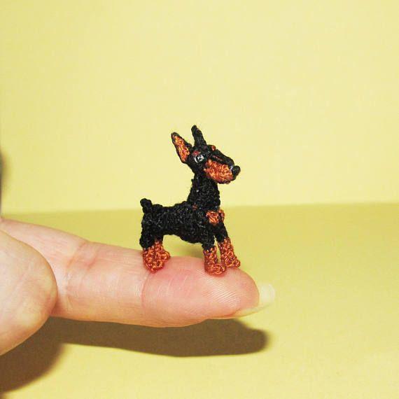 Doberman miniatura  perro miniatura pequeño Dobermann