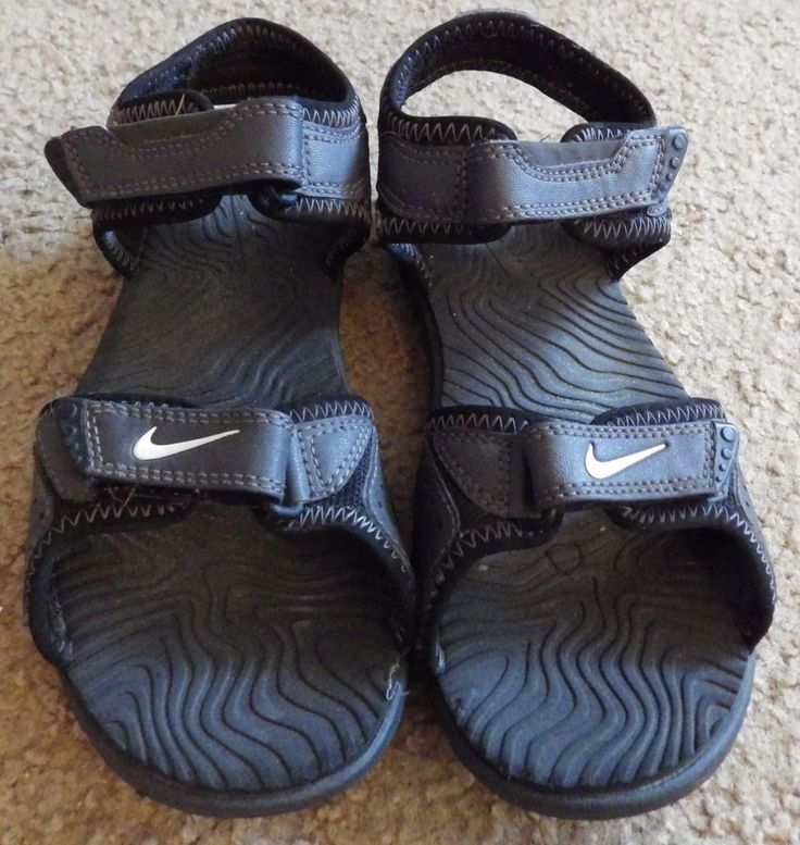 Boy S Nike Santiam 5 Velcro Sandals Youth Size 2 Y Gray