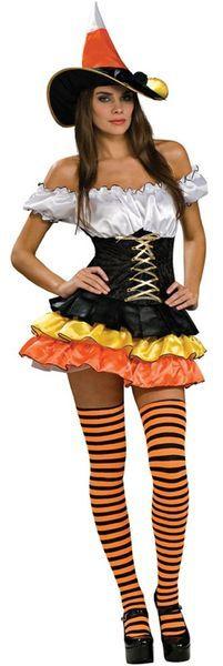 Karamellinoita Deluxe. Olipa tarinoissa perää tai ei, tämä Halloweeniin värityksensä puolesta sopiva asu saa sinut säkenöimään taikavoimia! Sisältää: - Mekon - Stay-up sukat - Hatun