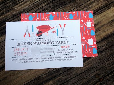 Cute housewarming party invites! | Placesettings & Parties ...