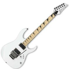 white ibanez electric guitar