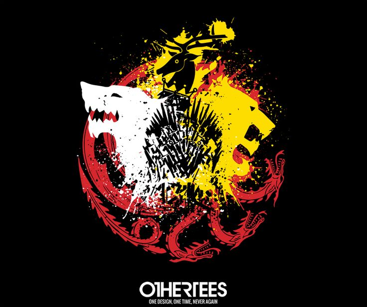 """Game of Colors"" by Dr.Monekers T-shirts, Tank Tops, V-necks, Sweatshirts and Hoodies are on sale until March 12th at www.OtherTees.com #got #gameofthrones #othertees"