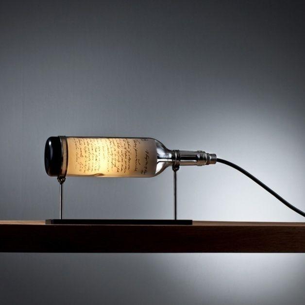 Nice Tischlampen Weinflasche Lampe Patriot ein Designerst ck von DOworks bei DaWanda