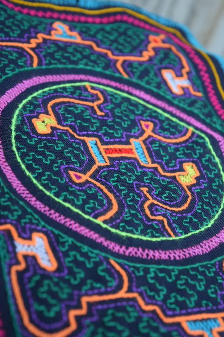 Shipibo tapisty, Icaro, sacred healing textile, alter cloth, ayahuasca ceremony tool, Peruvian,Perue, ceremony by RileyDoRight on Etsy