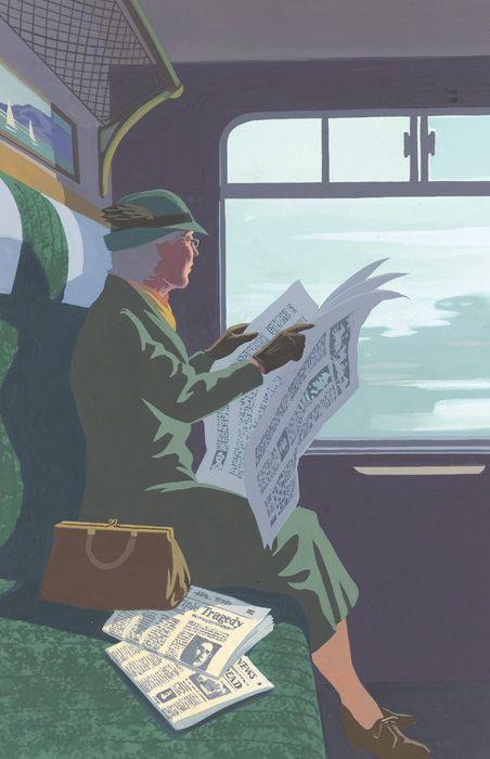 A Pocket Full of Rye by Agatha Christie. Folio edition. Illustration by Andrew Davidson.