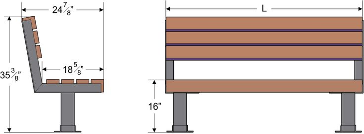 Park Bench Dimensions Wood Working In 2019 Bench