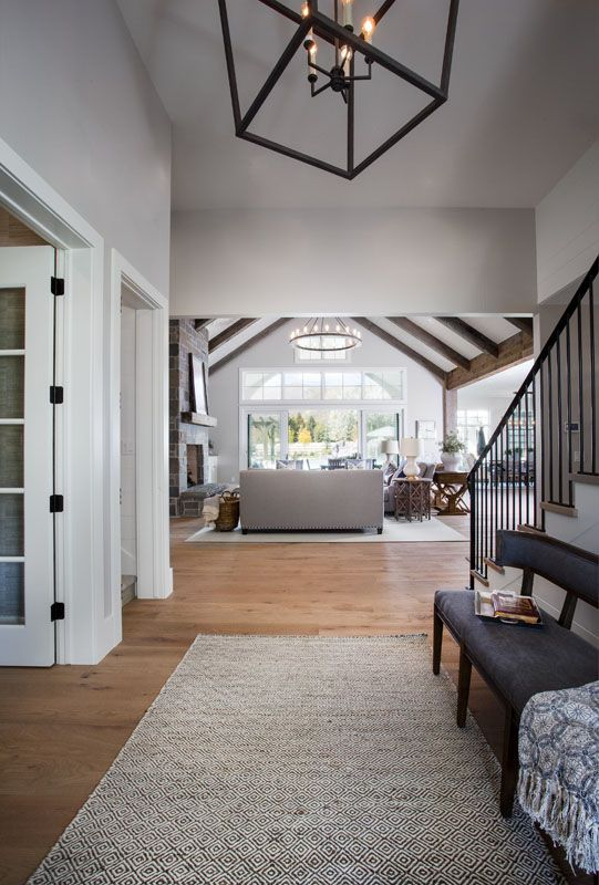 i love how open and clean this is - Custom Home Design Ideas