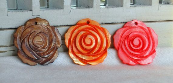 Natural Shell Flowers for Craft or Jewelry by MySongsDesigns, $2.75