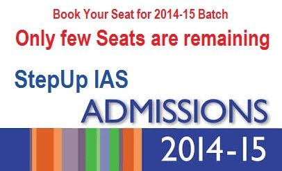 Only few Seats are remaining #StepUp #IAS. Book Your Seat for 2014-15 Batch,  RIGHT NOW: http://stepupias.com/book-your-seat-now