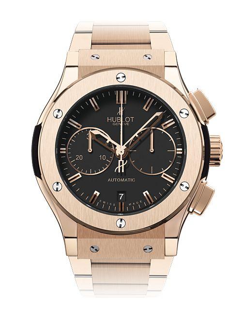 Hublot Chronograph King Gold Bracelet - Classic Fusion watches