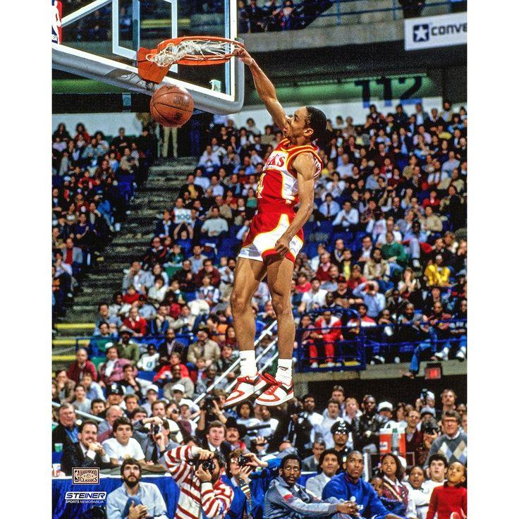 Spud Webb Atlanta Hawks 1986 Slam Dunk Contest 8x10 Photo (Getty 73687335)