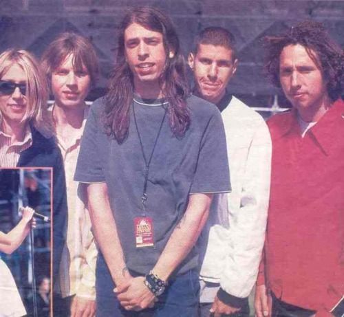 Kim Gordon, Beck, Dave Grohl, Mike D., Zack de la Rocha. This was taken when I was 14, back when popular music was actually good. Sometimes I really miss the 90s