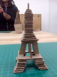 The Art Student's Blog: Cardboard Landmarks