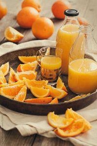 Orange fruit and orange juice... but?