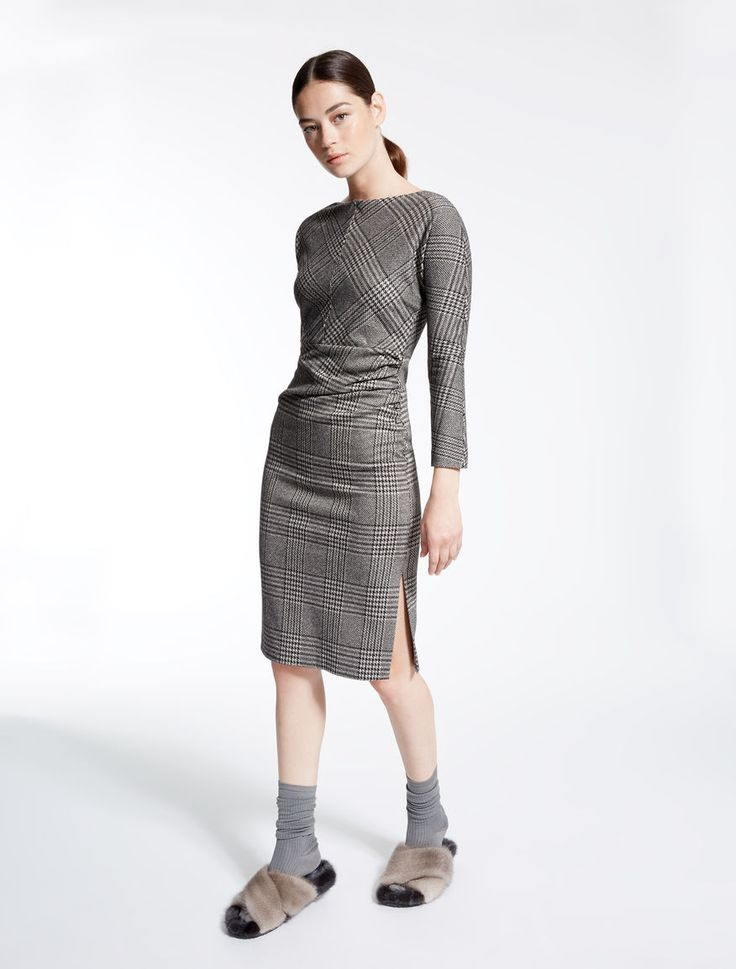 Jacquard jersey dress, black - Weekend Max Mara Product page