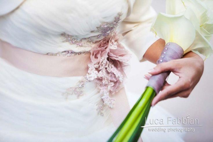 Wedding dress & bouquet