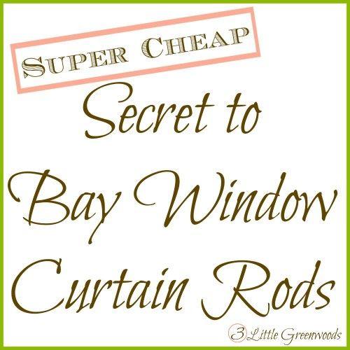 Secret to {Super Cheap} Bay Window Curtain Rods  http://www.3littlegreenwoods.com/2014/08/25/secret-to-super-cheap-bay-window-curtain-rods/#comment-162524