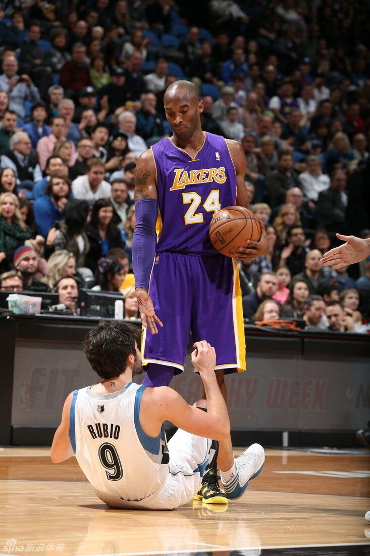 Ricky Rubio and Kobe Bryant