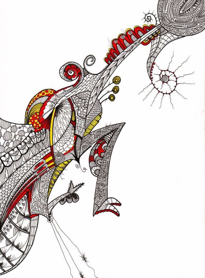 """""""Lagartija"""" Serie Animales e Insectos Tintas-color sobre cartulina Año: 2008"""