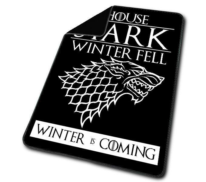 Game Of Thrones House Stark of Winterfell  Black Blanket