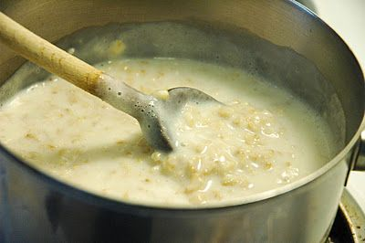 creamy oatmeal cooking technique