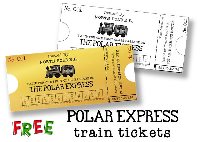 258 best Polar Express Printables images on Pinterest  Christmas