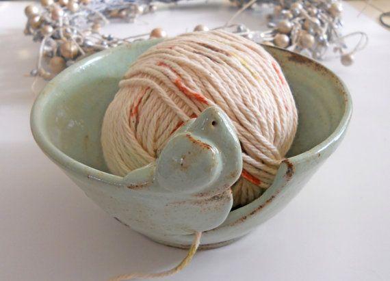 Yarn Bowl Knitting Bowl Ceramic Yarn Bowl by IslandGirlPottery, $40.00