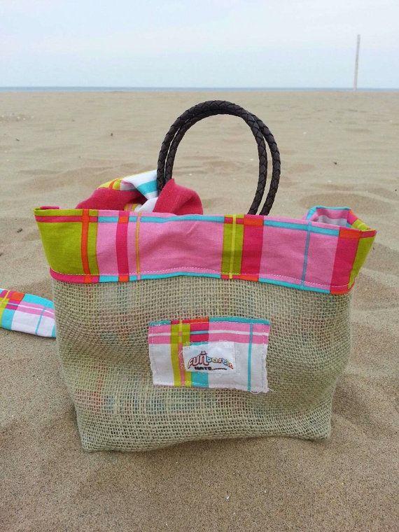 NEW ITEM Children's beach bag w. matching Summer by FUNtasticHats, $30.00