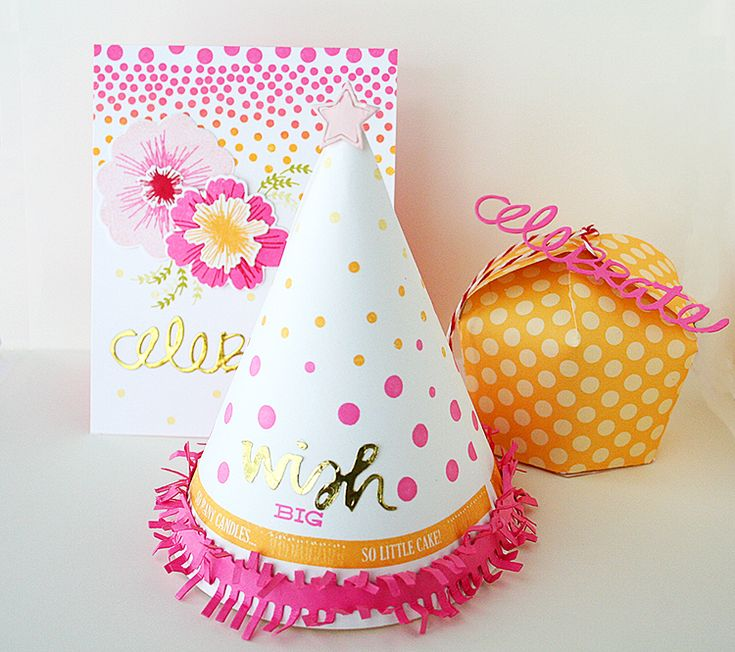 wish big + so many candles + party hat die by danielle - super cute!