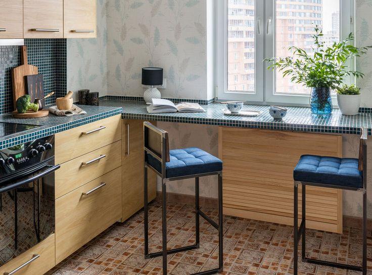 55m2-es kétszobás lakás természetes anyagokkal és a kék árnyalataival dekorálva
