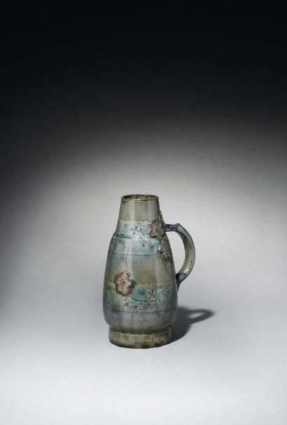 ernest chaplet 1835 1909 pichet piriforme en gr s petit bec verseur et a pottery. Black Bedroom Furniture Sets. Home Design Ideas