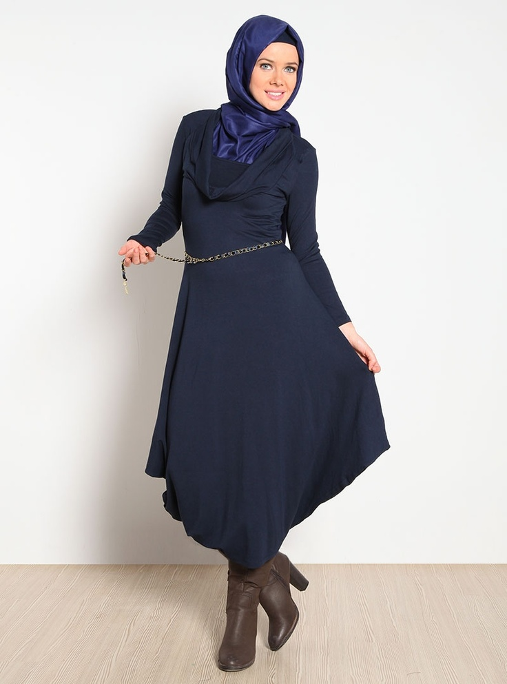 Degaje Yaka Beli Zincirli Elbise 12K6106 - Lacivert - ToplessElbi 12K6106, Bely Zincir, Yaka Bely, Wearable Clothing, Nice Things, Degaj Yaka, Elbise 12K6106, Zincir Elbise