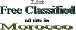 Free classified websites place list for advertising in Morocco to post employers and others
