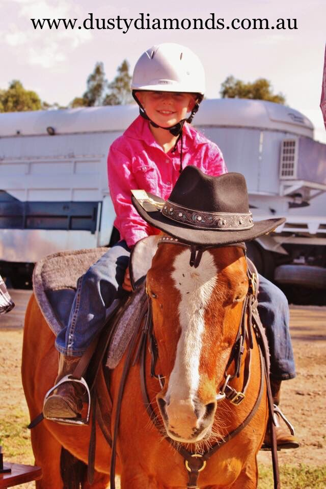 Our biggest fan & VIP, Casie & Flash at the Muswellbrook charity rodeo & Campdraft!  Www.dustydiamonds.com.au